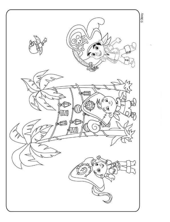 Kidsnfuncom  9 coloring pages of Jake and the Never Land Pirates