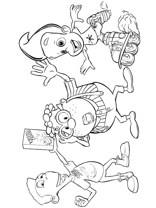 Kids n 35 coloring pages of jimmy neutron Coloring book genius