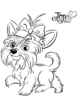 Kids N Fun Com 6 Coloring Pages Of Jojo And Bowbow