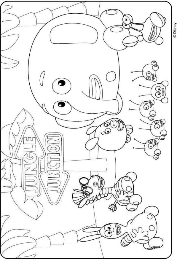 Kids N Fun Com Coloring Page Jungle Junction Jungle Junction Jungle Junction Coloring Pages