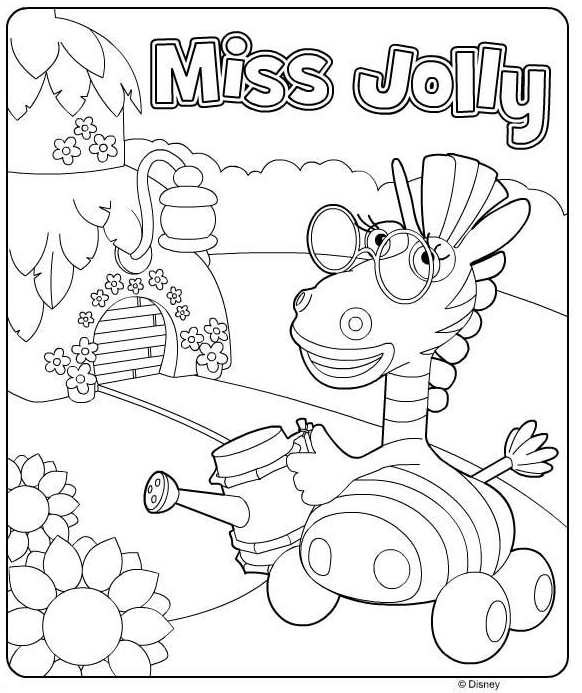 Kids N Fun Co Uk Coloring Page Jungle Junction Miss Jolly