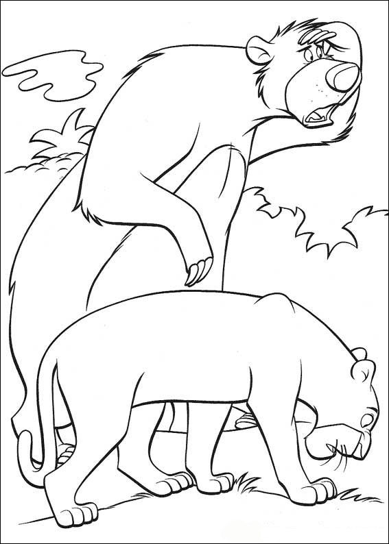 Kids-n-fun.co.uk | 62 coloring pages of Jungle Book