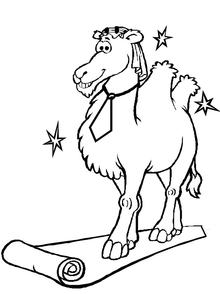 Kids-n-fun.com | 15 coloring pages of Camels
