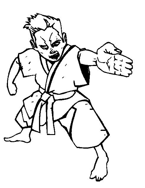 Kidsnfuncom 10 coloring pages of Karate