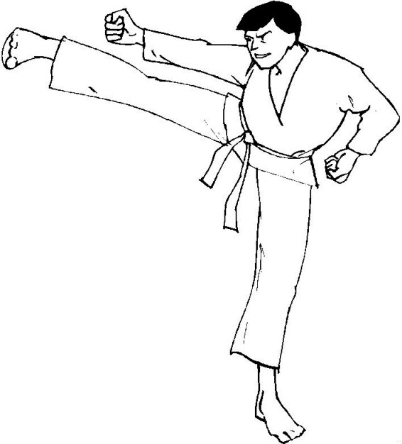 Kids n funcom 10 coloring pages of Karate