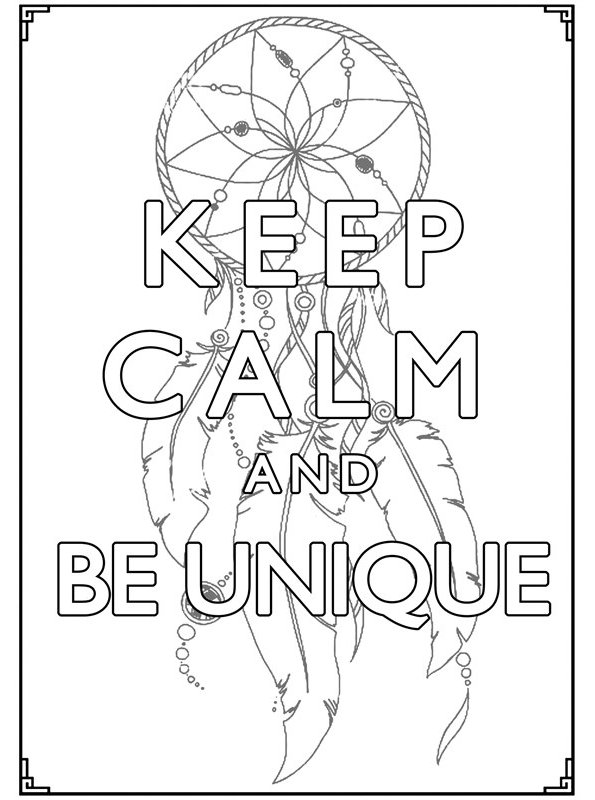 Kids-n-fun.com | Coloring page Keep Calm keep calm and be ...