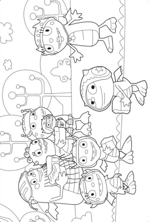 Kidsnfun 11 coloring pages of Henry Hugglemonster