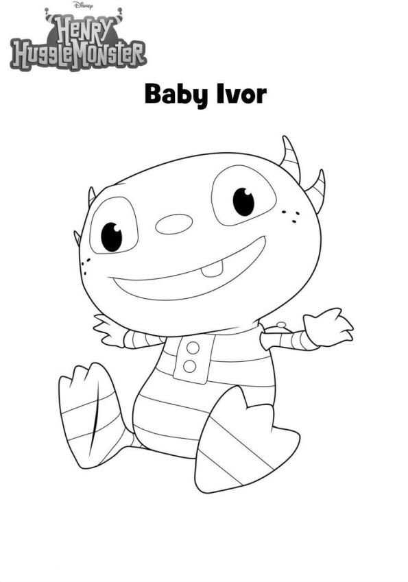 Kids-n-fun.co.uk | 11 coloring pages of Henry Hugglemonster