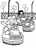 fun fair coloring pages - photo#12