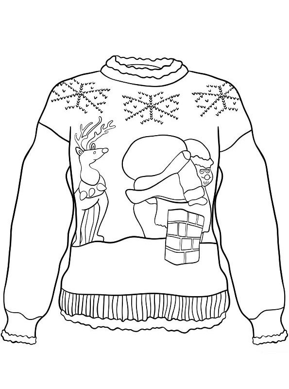 Kids-n-fun.com | 14 coloring pages of Christmas ugly sweaters