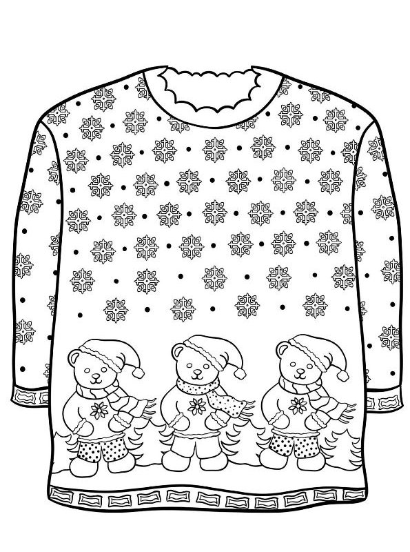 Kids N Fun Com 14 Coloring Pages Of Christmas Ugly Sweaters