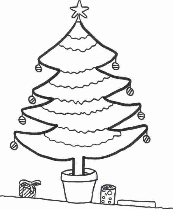 12 christmas trees to decorate yourself coloring pages