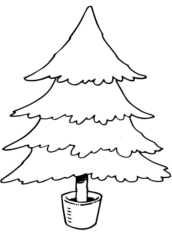Kids n coloring page christmas trees to decorate for Zelf coloring pages