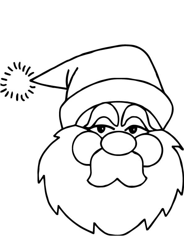 christmas santa claus - Coloring Pages Santa