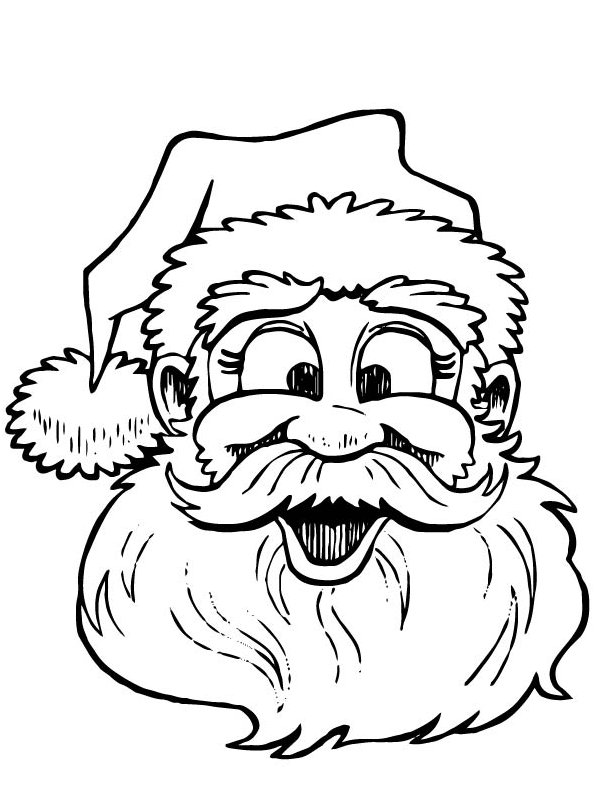 kids n fun com 85 coloring pages of christmas santa claus