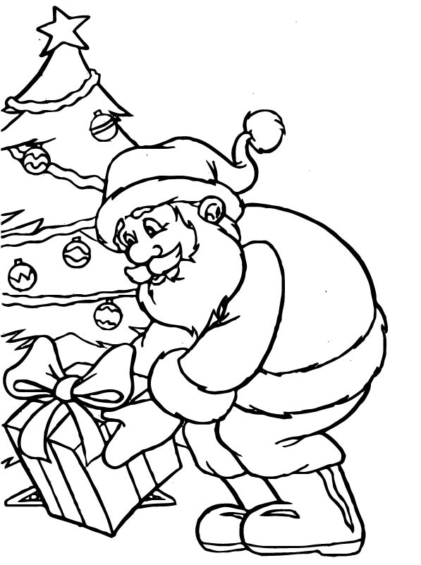 kids n funcom 85 coloring pages of christmas santa claus - Coloring Pages Santa