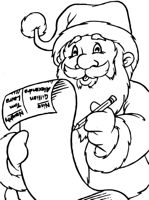 Kids-n-fun.com   85 coloring pages of Christmas Santa Claus