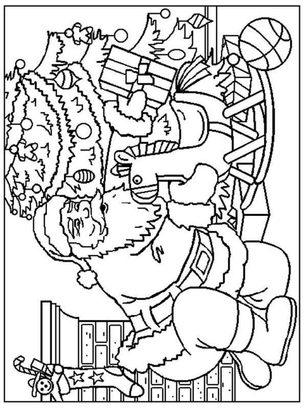 Kids-n-fun.com | 85 coloring pages of Christmas Santa Claus