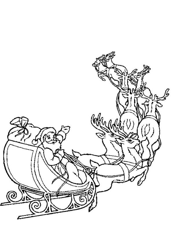 Kids-n-fun.co.uk | 85 coloring pages of Christmas Santa Claus