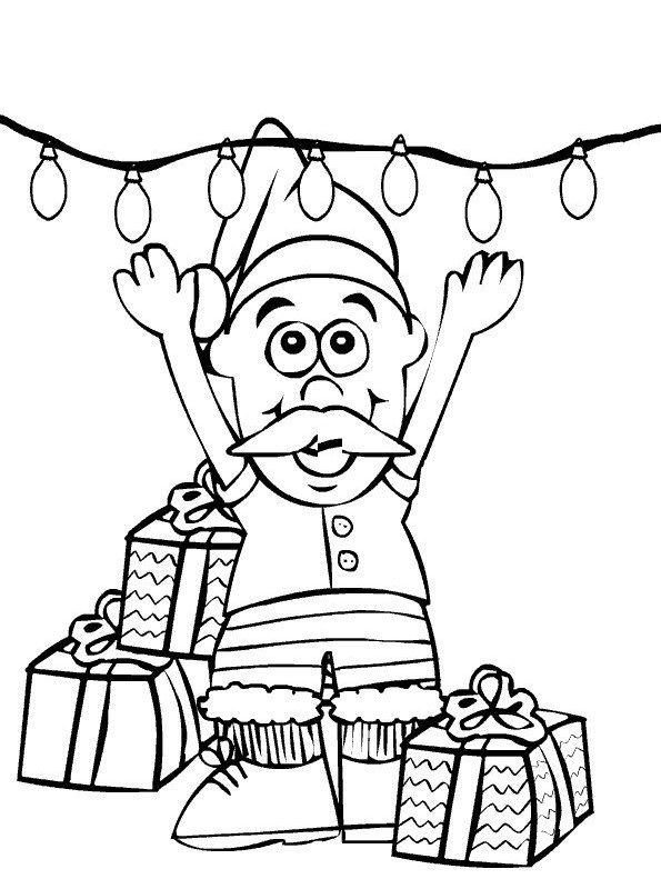kids n 85 coloring pages of christmas santa claus. Black Bedroom Furniture Sets. Home Design Ideas