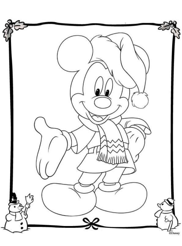 Kidsnfuncom  48 coloring pages of Christmas Disney