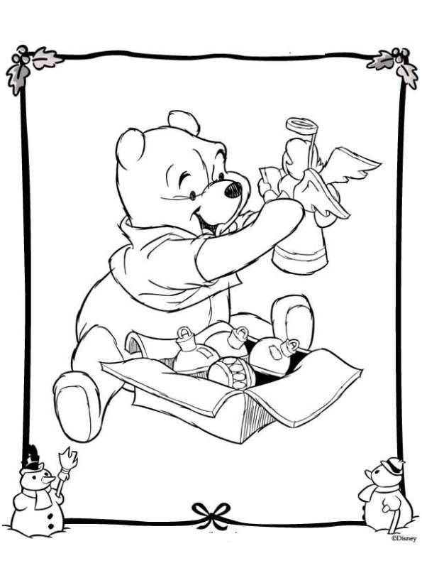 Kids n coloring page christmas disney christmas for Kids n fun coloring pages