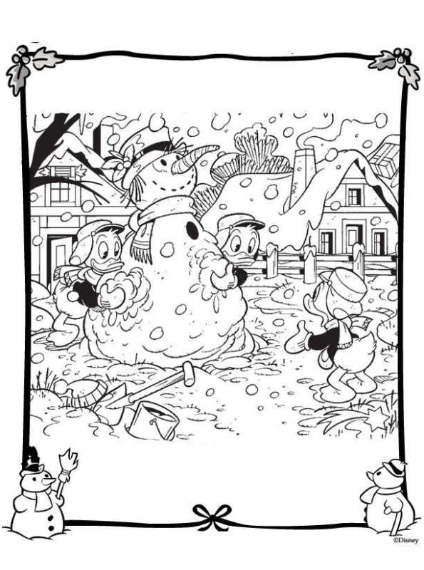 Kids N Fun Com 48 Coloring Pages Of Christmas Disney