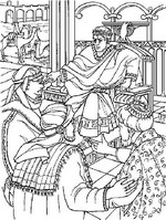 Kids N Fun 31 Coloring Pages Of Bible Christmas Story