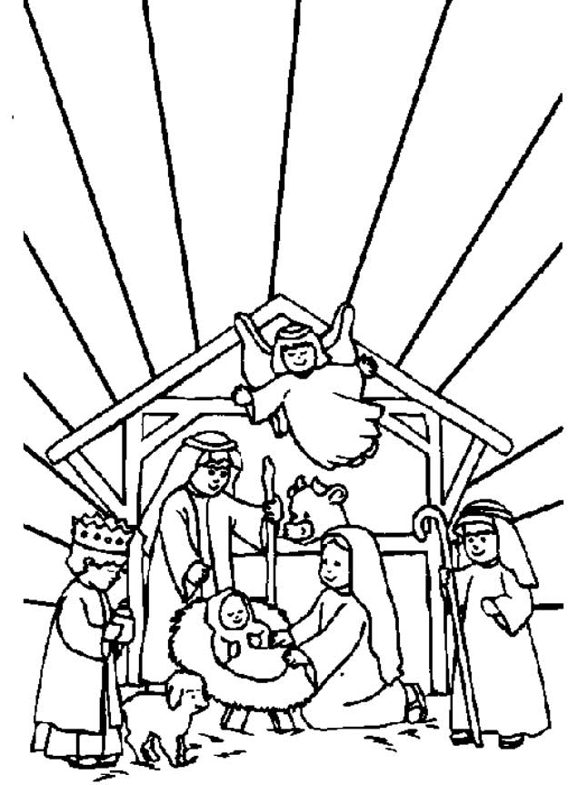 31 bible christmas story coloring pages - Christmas Story Coloring Pages