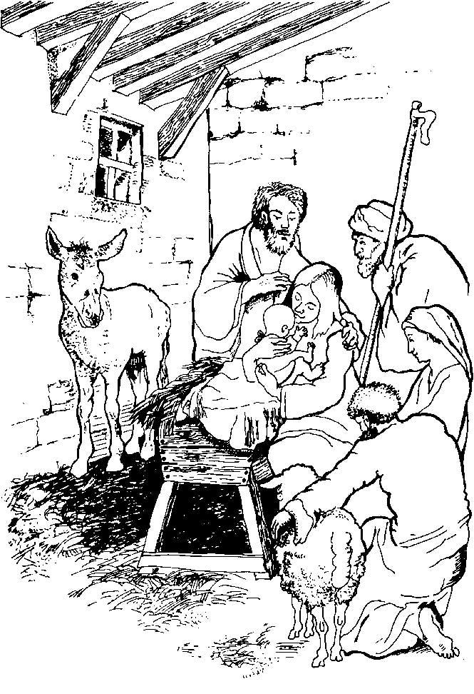 Kidsnfuncom  31 coloring pages of Bible Christmas Story