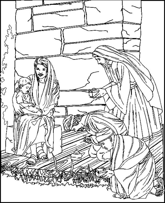 bible christmas story - Christmas Story Coloring Pages