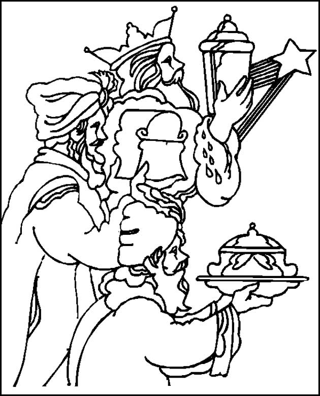Kids n funcom 31 coloring pages of Bible Christmas Story