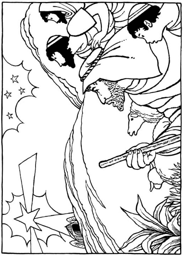 a christmas story coloring pages - photo#47