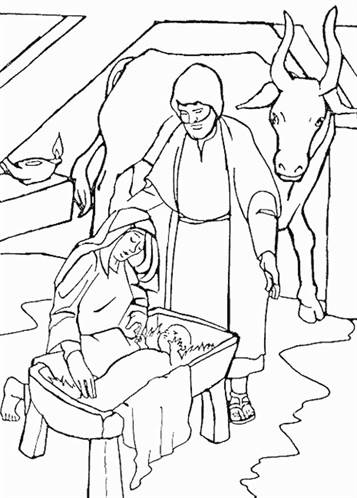 Kids N Fun Com 31 Coloring Pages Of Bible Christmas Story