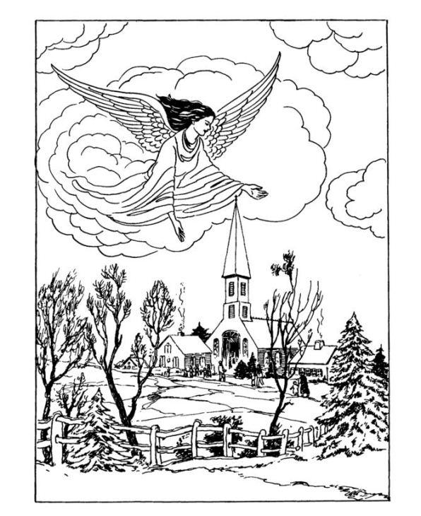 old fashion santa coloring pages - photo#40