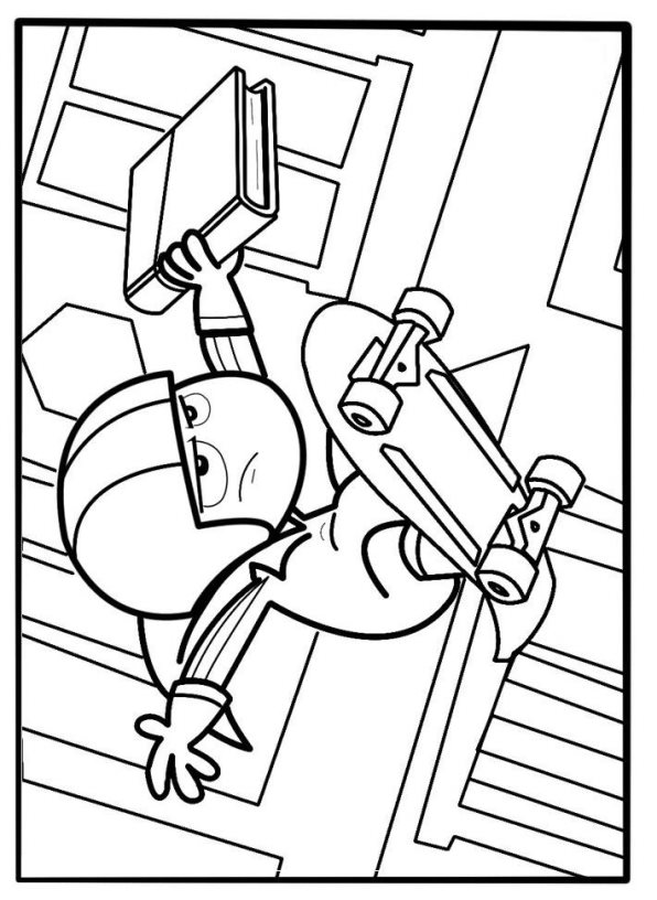 Kidsnfun 9 coloring pages of Kick Buttowski