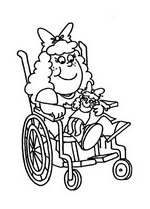 children with disabilities coloring pages - photo#14