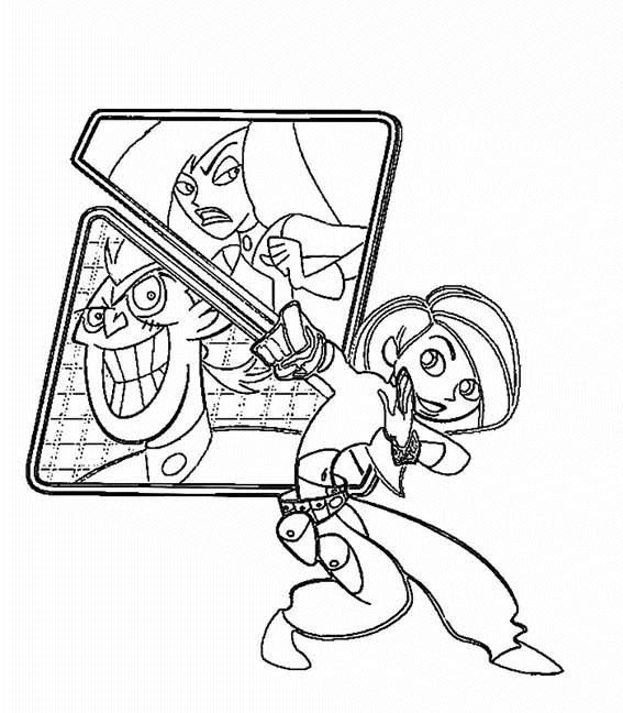 Kids N Fun Com 10 Coloring Pages Of Kim Possible Possible Coloring Pages