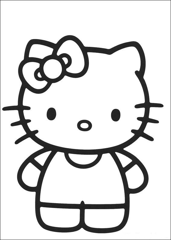 54 Hello Kitty Coloring Pages
