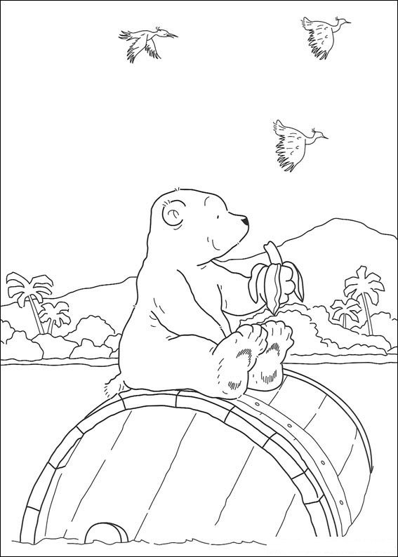 Kids n funcom 38 coloring pages of Lars the little polar bear