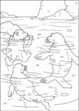 coloring page Lars the little polar bear