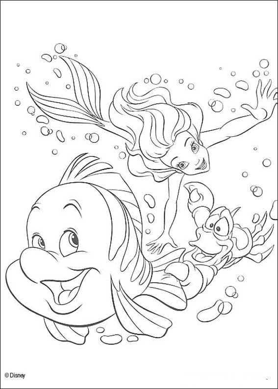 Kids-n-fun.com | 34 coloring pages of Ariel, The Little Mermaid