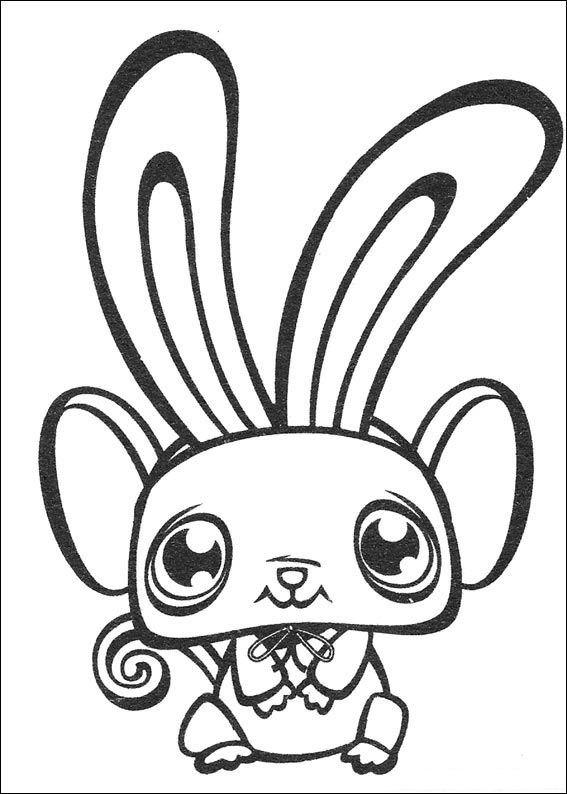 Kids n funcouk 50 coloring pages of Littlest Pet Shop