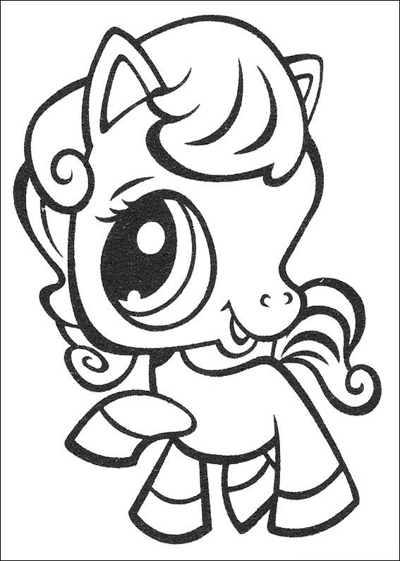 Kids n funcom 50 coloring pages of Littlest Pet Shop