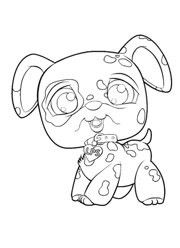 kids n funcom 50 coloring pages of littlest pet shop - Littlest Pet Shop Coloring Pages Dog