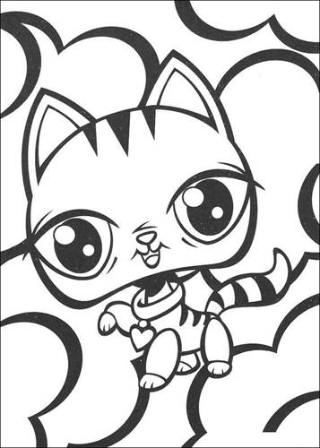 Kids N Fun Com 50 Coloring Pages Of Littlest Pet Shop