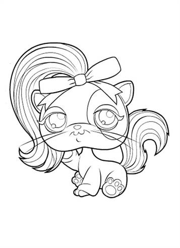 lps coloring pages horse wearing - photo#17
