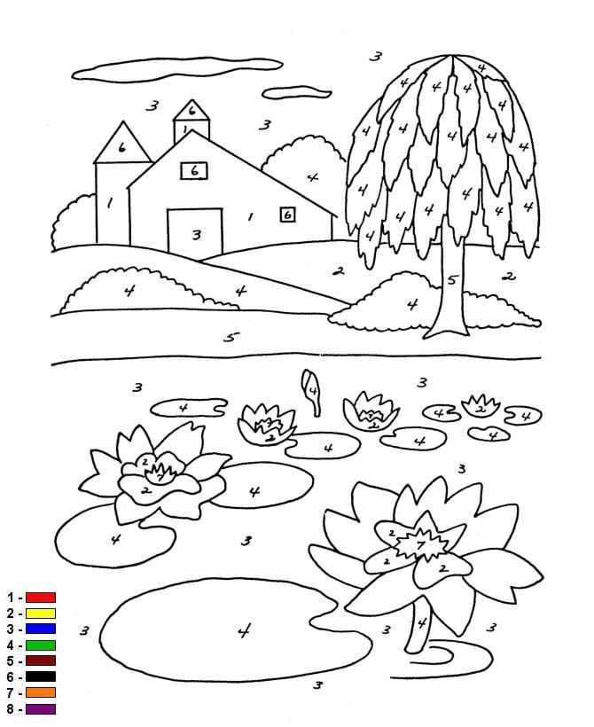 Uitgelezene Kids-n-fun.com | Coloring page Color by number Farm Kleur op OI-53
