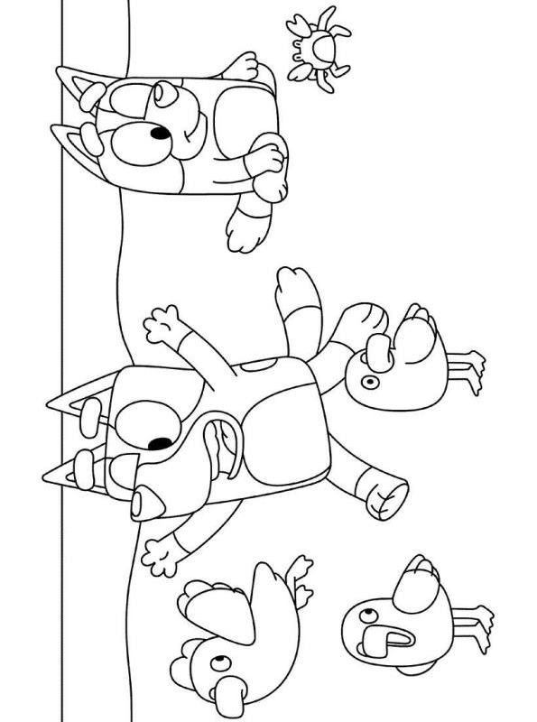 Kids-n-fun.com | Coloring page Bluey Bluey on the Beach