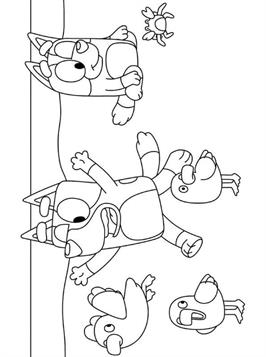 Kids N Fun Com 19 Coloring Pages Of Bluey